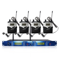 ERzhen One to Four Dual Channel Wireless KTV Kiraoke Stage Microphone Monitoring System