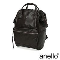 anello PREMIUM CLASP經典皮革口金後背包 深咖啡 ( AT-B1519-DBR )