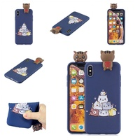 For OPPO F9/F9 PRO/A7 X 3D Cute Coloured Painted Animal TPU Anti-scratch Non-slip Protective Cover Back Case Style:OPPO F9/F9 PRO/A7 X