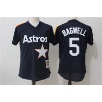 108_太空人5號  BAGWELL 深藍色復古網眼MLB球衣棒球服