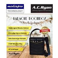 AC Ryan Karaoke BoomBox Portable 20 Watts Loud Stereo Speaker w/2 wireless Mics,