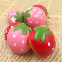 Squishy Toys Slow Raising Simulate Strewberry Soft Kawaii Fruit Desk Decor