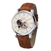 Arbutus Broadway AR807TRIF Anolog Automatic Brown Leather Men Watch