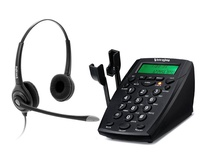 Office telephone with RJ9 headset jack and Recording jack business Phone RJ9 plug Call center excellent headset with QD cable