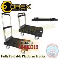 Orex Fully Foldable Platform Trolley / Hand Truck Holds up 130kg / Platform Trolley