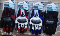 RS-TAICHI RST391 Leather With Mesh Carbon Fiber Breathable Racing Shatter-resistant Gloves