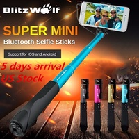 BW-BS1 Mini Extendable Wired Selfie Stick Monopod For Smartpho