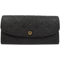 Louis Vuitton LV M62369 EMILIE 經典花紋全皮革壓紋扣式長夾.黑_現貨