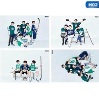 4Pcs Kpop BTS Bangtan Boys Album Photocards 5th Anniversary Poster Wall Stickers H02