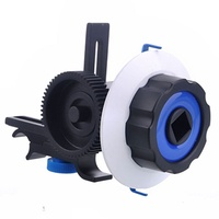 Quick Release Clamp DSLR Follow Focus FF with Adjustable Gear Ring Belt for 15mm Rod Rig 60D 600D 5D2 GH2 D7000