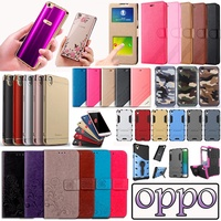 ▶OPPO Case◀OPPO case Tempered Glass leather forst case holder case for R9S R9 R9 PLUS A59 R11 A33