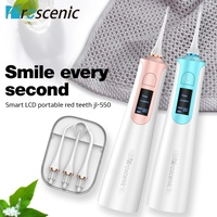 Proscenic LCD Dental Oral Cordless Waterjet Teeth Irrigator Floss 3Nozzle 3 Mode
