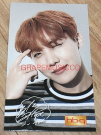 BANGTAN BOYS BTS 방탄소년단 BBQ CHICKEN OFFICIAL GOODS J-HOPE PHOTO CARD PHOTOCARD A
