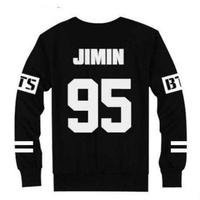 2017 bts photocard Bts Bangtan Boys Jung Kook Jhope Jin Jimin V Suga Longsleeve Hoodie New Kpop Printed Sweatshirt bts beanie