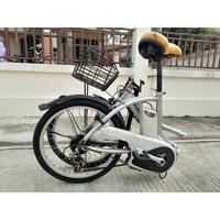 """จักรยานไฟฟ้า Panasonic 20"""" พับได้ สีเงิน"""