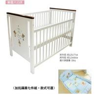 *美馨兒* 東京西川 GMP BABY 樂園嬰兒床(聚酯棉床墊)+側板X-027新款(白色)+嬰兒床組七件組9500元(有優惠可詢問)(無法超商取貨)