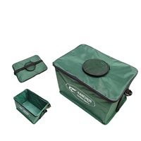Fishing tool wear canvas fishing supplies fishing gear fishing drum fish box fish bucket folding wat