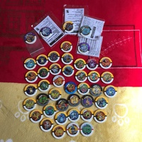 精靈寶可夢 神奇寶貝三隻組對戰 圓盤 收納盒(黃色款)