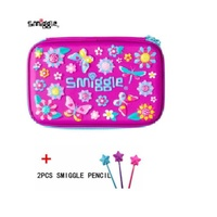 Smiggle Hardtop Pencil Case - Purple owl+Surprise gifts