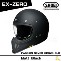 任我行騎士部品 SHOEI EX ZERO 山車帽 內鏡片 復古 經典 EX-ZERO 消光黑