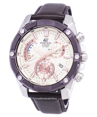 Casio Edifice Chronograph Men's Brown Stainless steel Buckle Clasp Watch EFR-559BL-7AV