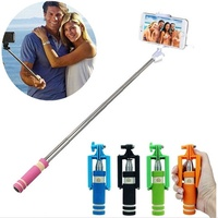 Mini Handheld Wired Selfie Stick Monopod for CellPhone Extendable