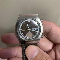 Vintage Seiko chronograph 6139-8020,rare(brown-dial)brown strap,all matching,no horse run,wat u c wat u get,tks for looking.