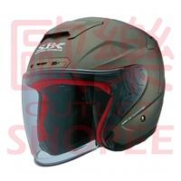 (歐樂免運) SBK ZR  消光鐵灰 / 半罩式安全帽 雙D扣 舒適行內襯 力學內襯 流線型外觀 加贈鏡片