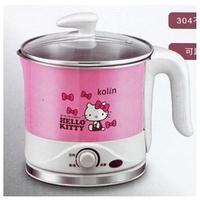 【卡漫屋】 Hello Kitty 快煮鍋 ㊣版 凱蒂貓 不鏽鋼 美食鍋 歌林 附蒸架 Kolin 廚房 必備 烹調