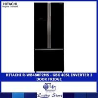 HITACHI R-WB480P2MS - GBK / GPW 405L INVERTER 3 DOOR FRIDGE