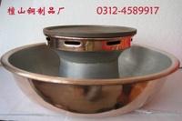 Tanshantongzhi Roast And Instant Boil 2-in-1 Hot Pot Fuel Gas Hot Pot Fried Shabu Hot Pot Explosion Shabu Hot Pot 38 Cm