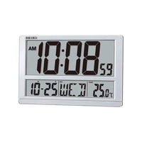 Seiko QHL080S Digital LCD Wall Clock