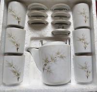 早期 大同 竹花 茶器組 茶壺+6杯 結婚嫁娶喜宴拜拜
