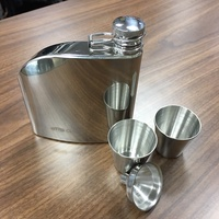 ├登山樂┤美國 GSI Trad Flask Set 不鏽鋼酒壺組/Shot杯 # 66216