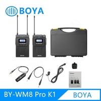 Boya Wm8 Pro K1 ไมค์ไร้สาย UHF wireless microphone ไมค์อัดเสียงพร้อมสายแปลงใช้งานกับสมาร์ทโฟน