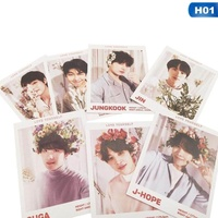 MeiYang 7 Pcs/Set New KPOP BTS Bangtan Boys LOVE YOURSELF Album Photo Card Paper Cards Self Made LOMO Card Photocard