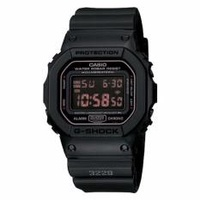 CASIO GSHOCK STEALTH BLACK WITH INFRA RED DIGITAL DISPLAY DW5600MS 1