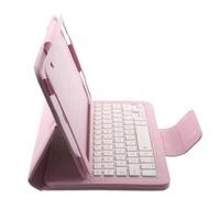 Bluetooth Keyboard Litchi Leather Shell for Samsung Galaxy Tab A 10.1 (2016) - White