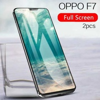 2pcs OPPO F7 Screen Protection Tempered Glass 2.5D Tempered Glass For oppo f7 full Protector film