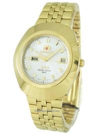 Orient 3 Stars Men's Gold Stainless Steel Strap Watch EM70001W