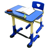 HanU兒童健康可調整全成長書桌椅-藍色 (簡易DIY)