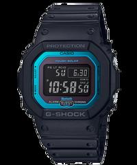 CASIO 卡西歐 GW-B5600-2DR G-SHOCK 太陽能電波電子錶 黑 藍 42.8mm