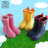 雨鞋未來部落兒童雨鞋男童女童幼兒園寶寶雨靴小學生孩子防滑水鞋套鞋 好再來小屋
