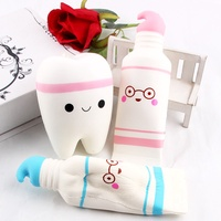 Cute Cartoon Tooth Pendant Squishy Toy Squishy Slow Rising Toothpaste Soft Squeeze Cute Stretchy Toy Gift Wholesale