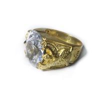 แหวนพญาครุฑ ยกพลอย หลวงพ่อเส็ง (เนื้อกะไหล่ทอง) หลวงพ่อเส็ง วัดบางนา ปี 2522