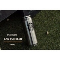 Starbucks Can Tumbler 500Ml Silver Color / Beer Can Tumbler ♡