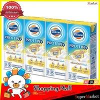 Four Mods, UHT Protein Plus Milk, Vanilla Milk 180ml Pack 4 UHT Milk - Sterilized Milk Milk Drinks