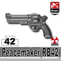 特別定做LEGO Lego特別定做零件LEGO武器家具瓦特SWAT和平廠商RB42鐵桿黑色手槍世界大戰瓦特武器 World antique