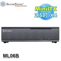 SilverStone 銀欣 ML06 黑色 SST-ML06B 橫躺 USB3.0 Mini ITX 電腦機殼