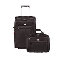 DELSEY Paris Delsey Luggage Helium Sky 2.0 Two-Piece Carry on Luggage Set, Black
